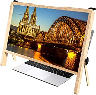 21 Inch Laptop Screen Magnifier,Foldable Computer Laptop Phone Holder Stand Magnifiers Ultra-clear Reading Amplifier, Enla...