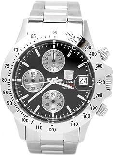 [エルジン]ELGIN 腕時計 クロノグラフ 日本製ムーブメント 200M防水 ブラック FK1184S-B メンズ