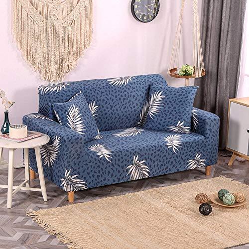 HXTSWGS Protector de Muebles,Funda de sofá elástica, Tejido elástico, Funda Protectora para Muebles-Azul 8_190-230cm