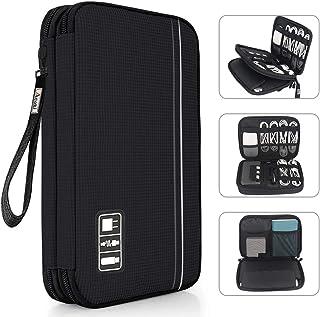 حقيبة حمل للسفر من Acoki ، حقيبة منظمة للأجهزة الإلكترونية ذات طبقة مزدوجة ، حقيبة محمولة للأقراص الصلبة ، الكاميرا الرقمي...