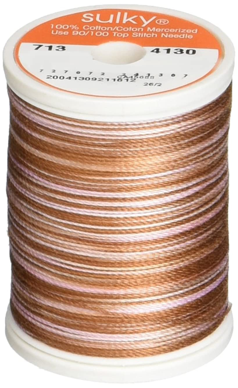 Sulky 713-4130 12-Weight Cotton Blendable Thread, 330-Yard, Root Beer Float