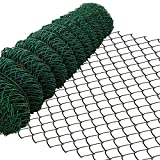 Amagabeli 1M x 25M Grillage Jardin Fil 60 x 60 mm Grillage Simple Torsion Vert Métallique Grillage Cloture Jardin en Acier et PVC RAL6005 HC03