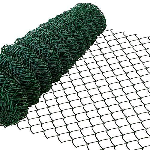 Amagabeli 1M x 25M Grillage Jardin Fil 60 x 60 mm Grillage Simple Torsion Vert Métallique Grillage Cloture Jardin en Acier et PVC RAL6005 HC03