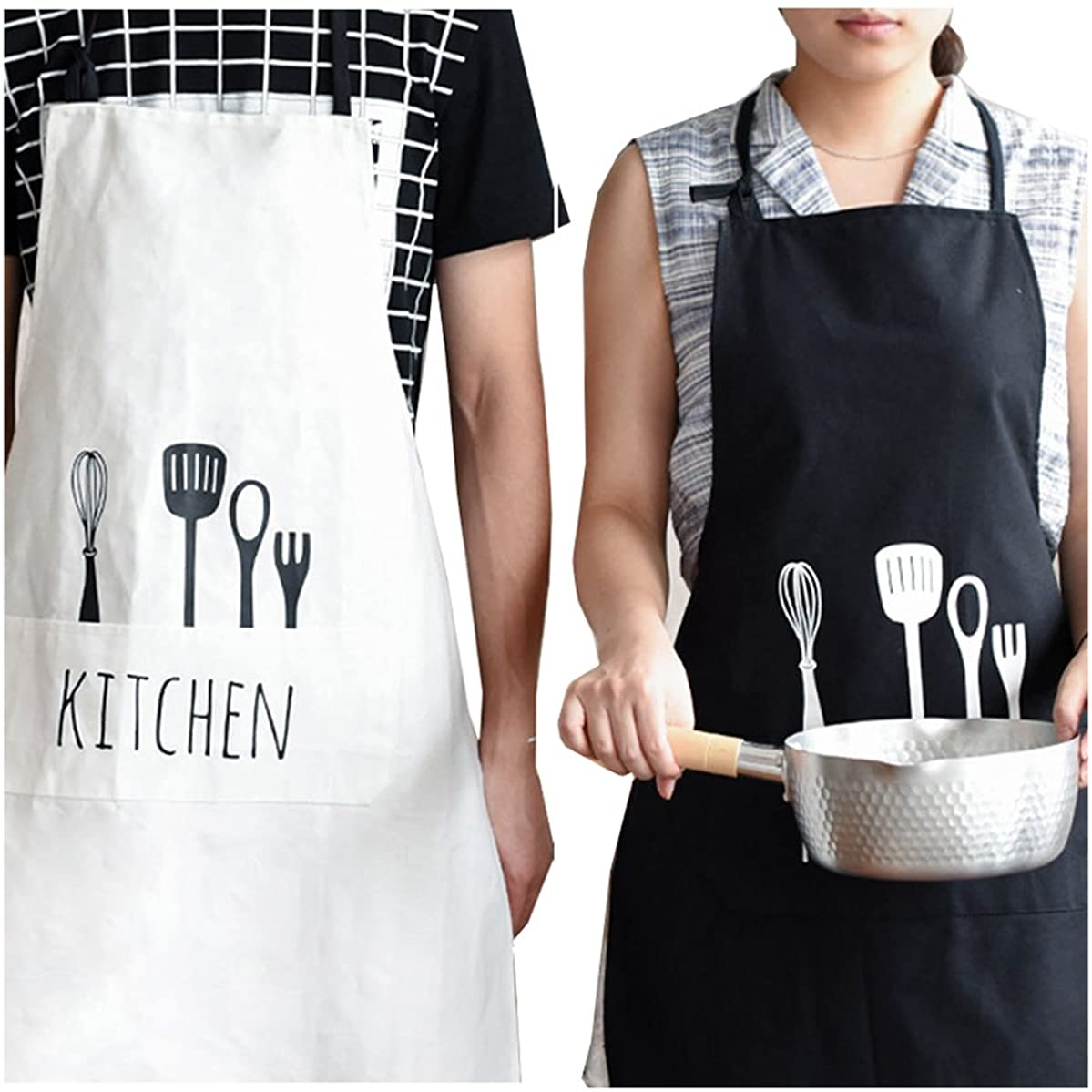 Wedding Gift 2016 - Kitchen Aprons With Pocket, His and Hers Couples Present for Bridal Shower, Newlywed, Engagement