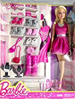 [バービー]Barbie Doll in Pink Dress with Shoes and Accessories CFR54 [並行輸入品]