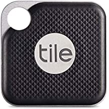 $49 » Tile Inc, Pro Black, Bluetooth Tracker and Finder, Water Resistant, Replaceable Battery, Easy to Attach for Keys, Pet Coll...