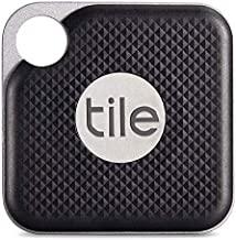 Tile Inc., Pro Black, Bluetooth Tracker and Finder, Water Resistant, Replaceable Battery, Easy to Attach for Keys, Pet Col...