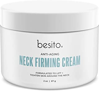 besito Advanced Neck Cream with Peptides, Vitamin E, Shea Butter, and More. Anti Aging Neck Firming Cream and Moisturizer Helps Reduce Wrinkles, Fine Lines and Age Spots.