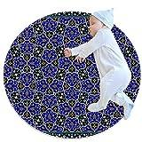 Hohohaha Iran - Alfombra de juego circular para bebé con patrón de textura de irán, alfombrilla antideslizante para dormitorio infantil, 27,6 x 27,6 pulgadas, Multi01, 70x70cm/27.6x27.6IN