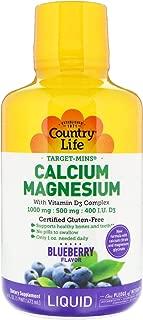 Country Life Target Mins Liquid Calcium Magnesium, Wild Blueberry, 16-Fluid Ounce