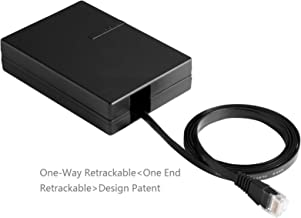 Special Design for Hotel and Office,Premium CAT-6 Ethernet Cable,One-Way Retractable (Patent).6Ft (1.8Meter). 3 in 1 multi-function,With RJ45 Gender, 568A,568B.for Laptop, Router