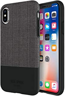 Jack Spade Color-Block Case for iPhone X (Tech Oxford Gray/Black - JSIPH-037-TOGRY)