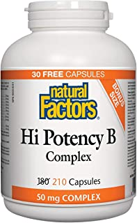 Natural Factors Vitamin B Hi Potency Complex 210 Capsules