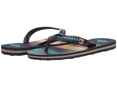 Quiksilver Kids Molokai Swell Vision (Toddler/Little Kid/Big Kid) (Black/Blue/Blue) Boys Shoes