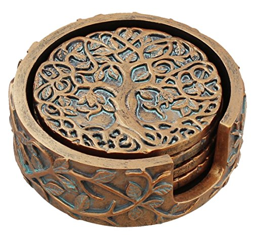 Old River Outdoors Decorative Tree of Life Coaster Set - Celtic Art