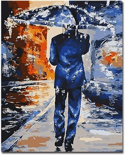 Las ventas en línea ahorran un 70%. Bricolaje por Número Pintura Pintura Pintura Al óleo Pintar A Mano hombres En La Lluvia Imágenes Abstractas Decoración del Hogar para La Sala Obra De Arte En La Parojo, 60X75Cm No Frame  Tienda de moda y compras online.