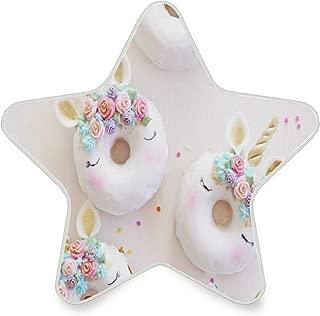 Night Light Unicorn Donuts?Flower Auto Sensor LED Dusk Star Pentagram Shaped Nightlight Decorative to Dawn Plug in Indoor for Kids Childrens