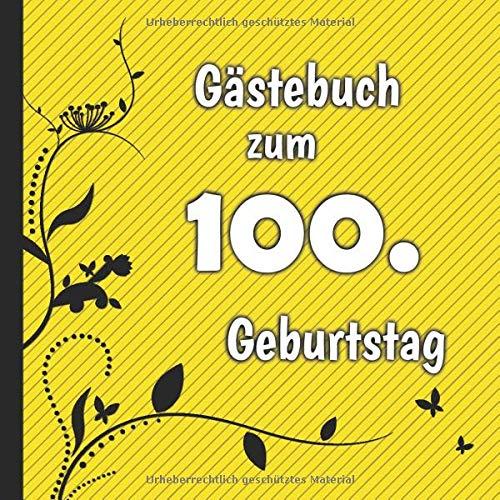 Gästebuch zum 100. Geburtstag: Gästebuch in Rot Blau und Weiß für bis zu 50 Gäste | Zum...