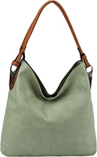 Slouchy light and classic hobo shoulder handbag with detachable cross-body shoulder strap