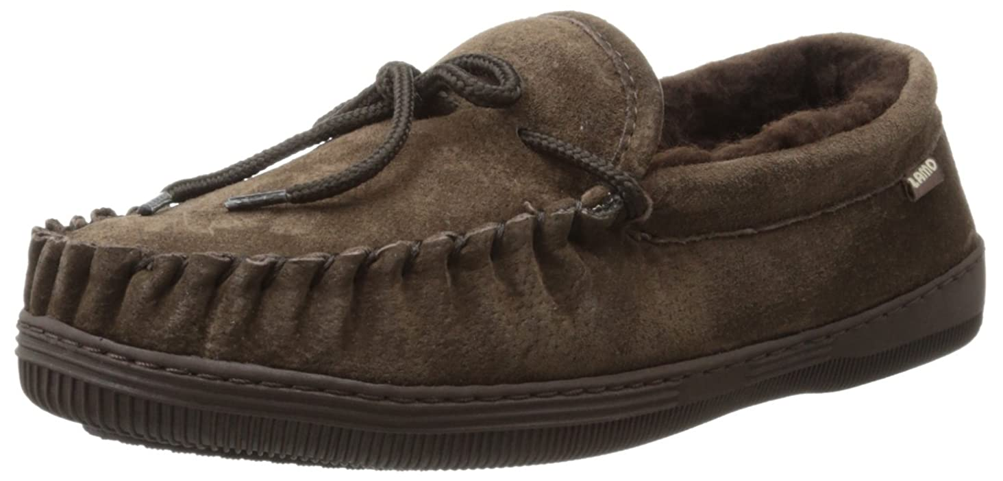 Lamo Men's Moc Shoes, Moccasin, Chocolate