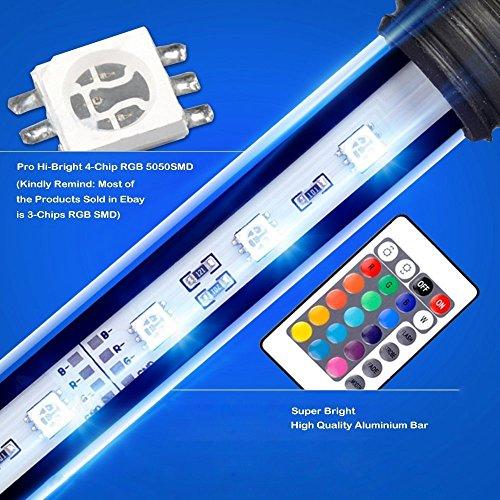 SUBOSI FVTLED Cambia Color Lámpara De Acuario 6.5W 57CM 30 Luces SMD5050 IP68 LED Lampara Tira Pecera Sumergible Submarino Luz