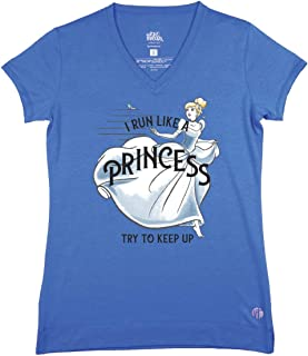 Cinderella Run Like a Princess Performance Streets V T-Shirt