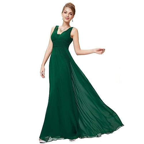 83a5d5a53 Ever Pretty Women's Sleeveless V Neck A Line Empire Waist Chiffon Long  Evening Party Dresses 08110