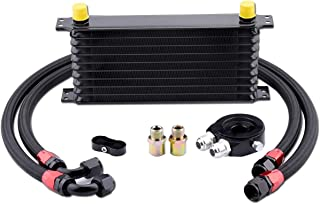 EVIL ENERGY 10 Row AN10-10AN Oil Cooler Kit Universal Engine Transmission Aluminium Alloy Black