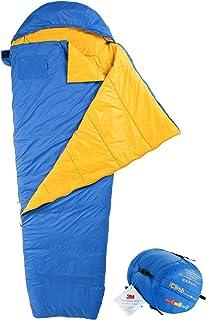 iClimb 3M Thinsulate Insulation Mummy Sleeping Bag with Compression Sack Ultralight Compact Warm Washable 3 Season for Adu...