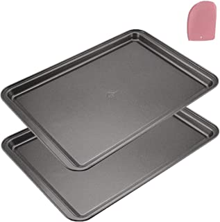 Mokpi Premium Non-Stick Bakeware Baking Pans Cookie Sheets Set, Baking Tray Rectangular Pan, 14.5 x 10 x 1 Inch (2 Piece)