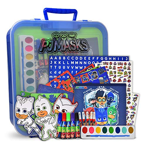 PJ Masks Coloring and Activity Art Tub, Includes Markers, Stickers, Mess Free Crafts Color Kit in Art Tub, for Toddlers, Boys and Kids