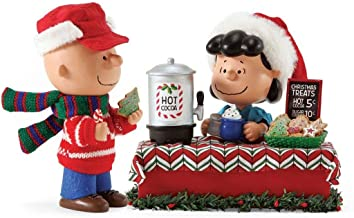 """Department 56 Possible Dreams Peanuts """"Christmas Treats"""" Clothtique Christmas Figurine Lucy Charlie"""