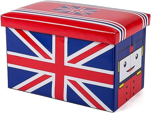 MNLXL Kleidung Snacks Buch Aufbewahrungsbox Kleiderschrank Aufbewahrung Spielzeug Speicher Stoff Hocker,BQ10