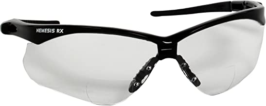 KLEENGUARD V60 Nemesis Vision Correction Safety Glasses (28624), Clear Readers with +2.0 Diopters, Black Frame, 6 Pairs/Case