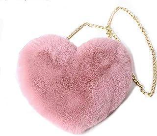 Women/'s Heart-shaped Shoulder Bag Fashion Wallet Purse Chain Handbags P3X5