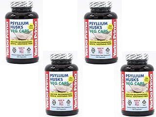 Psyllium Husks Veg Caps - 180 (Pack of 4)