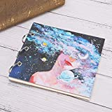 リング型5.9 x 5.9インチのドローイングブック、メモ帳、初心者用の画家(White cardboard)