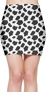 Cow Pattern Print Women's Short Bodycon Skirt Casual Mini Party Skirt