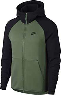 Mens Tech Fleece Full Zip Hoodie Sweatshirt Twilight Marsh/Black 928483-381 Size Small