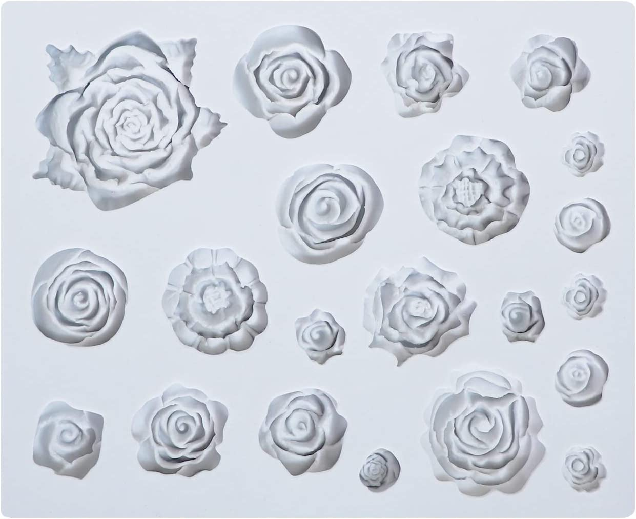 Silicone Resin And Polymer Clay Round 3 Cavity Multiple Rose-like Flower Jewelry Mold Silicone Flower Mold