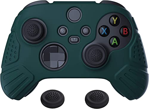 eXtremeRate PlayVital Guardian Edition Racing Green Ergonomic Soft Anti-Slip Controller Silicone Case Cover, Rubber P...