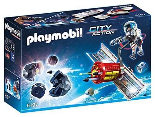 PLAYMOBIL (Playmobil) Satellite Meteoroid Laser Building Kit (parallel import goods)