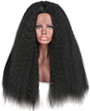 Addcolo Long Beautiful Synthetic Wigs Kinky Straight Hair Synthetic Wig Lace Front Replacement for Women Natural Looking