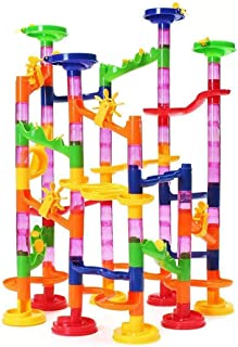 US Blue Robot Kids Deluxe Marble Run Race Game 105pcs Play Toys Colorful Fun Present Gift Set