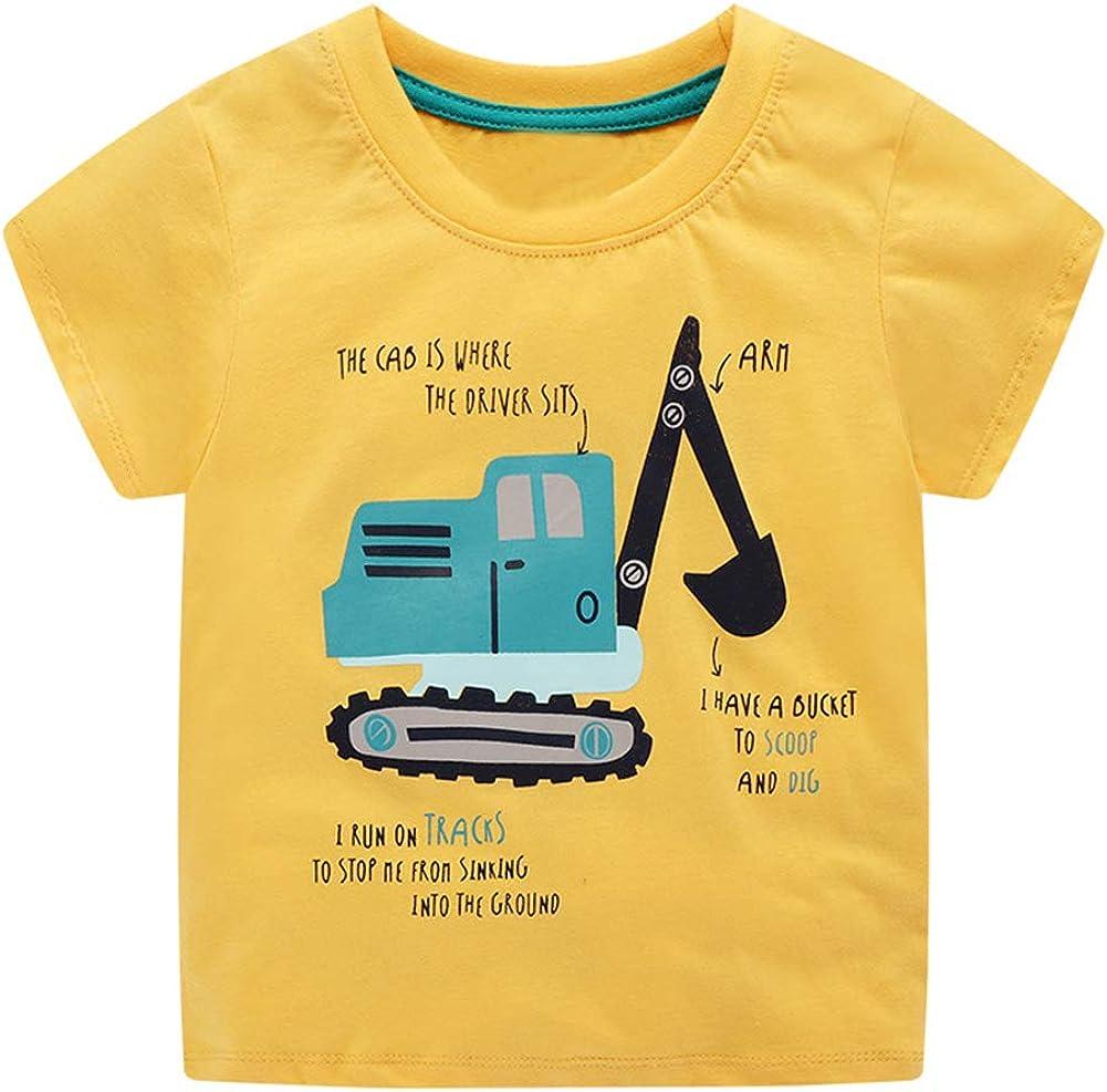 Warmbaby Toddler Boy Kids Short Sleeve T-Shirts