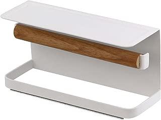 山崎実業 磁石でくっつけるだけ マスキングテープ入れ マグネット収納 マグネット マスキングテープホルダー トスカ  ホワイト サイズ:約W15.5XD6XH7.5cm tosca 3873