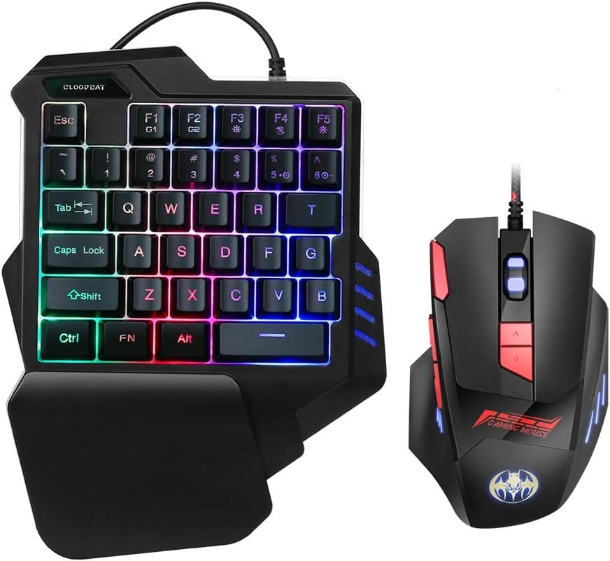 RGB One Hand Mechanical Gaming Cheap SALE Start and Keyboard Combo New item Mouse Backlit