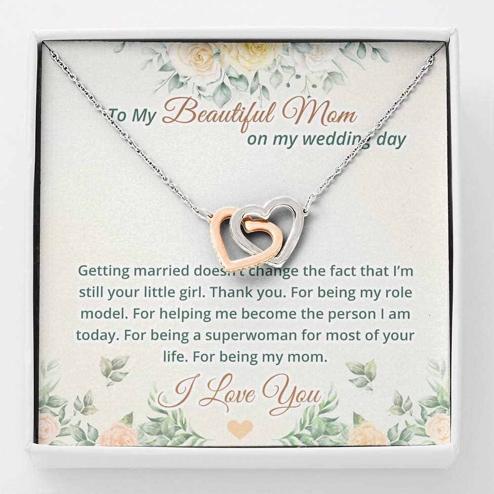 To My Beautiful Mom On Day Now on sale Pendan Hearts Wedding Interlocking Los Angeles Mall