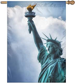 Garden Flag Statue of Liberty Lawn Banner Outdoor Yard Home Flag Wall Decoration Flag 27 X 37 Inch