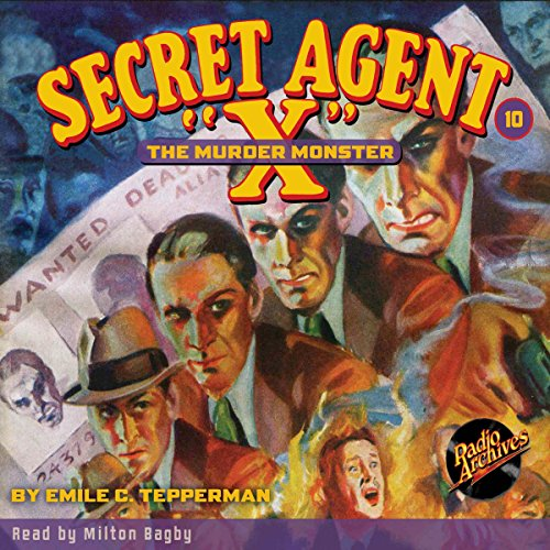 Secret Agent X #10: The Murder Monster audiobook cover art